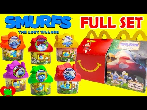 2017 Smurfs The Lost Village McDonald's Happy Meal Toys Full Set
