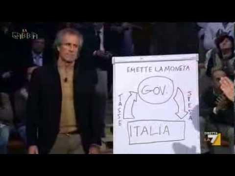 La gabbia - Paolo Barnard: 'Uno Stato sano emette moneta' (18/12/2013)