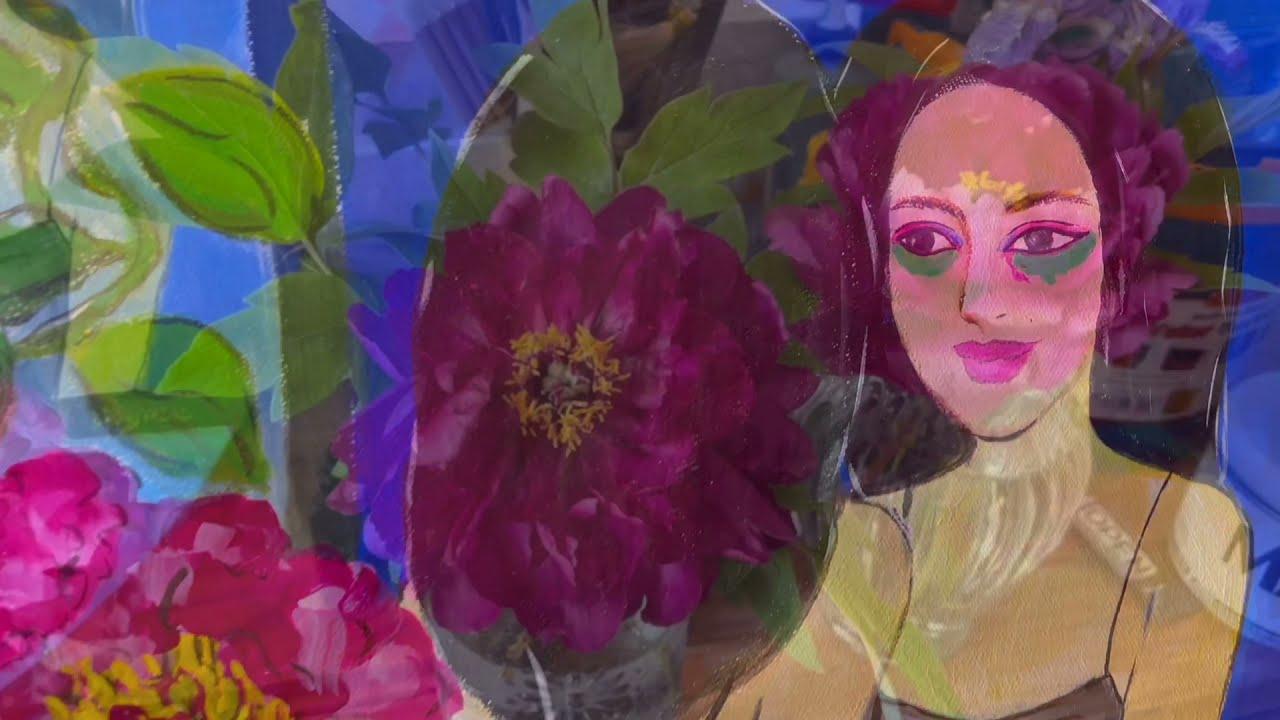 情绪与表达 Emotions and Expression Part 15:《镜中花》铁线莲与牡丹Mirror mask: Peony and Clematis