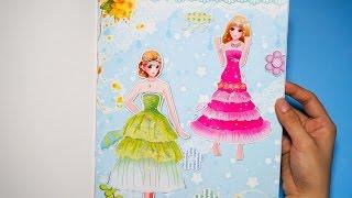 Đồ chơi cho bé gái - Dán hình trang điểm váy đầm cho công chúa - Tập 1