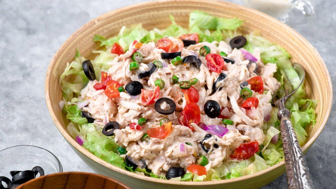 Chicken Mayo Salad Easy Chicken Salad Recipe Quick Healthy Meal Ideas Youtube