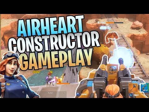 FORTNITE - New Airheart Constructor Save The World Gameplay (New R.O.S.I.E. Turret Ability!)