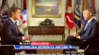 Paus zet aan tot herstel relatie VS en Cuba.
