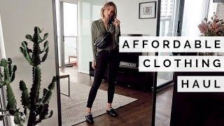 AFFORDABLE CLOTHING HAUL TRY ON | WINTER OUTFIT INSPO