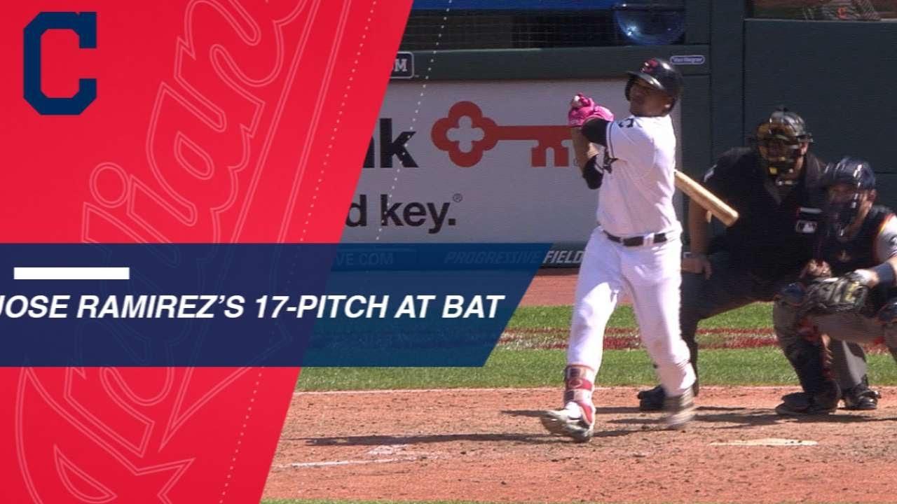 jose-ramirez-battles-17-pitches-to-get-a-double