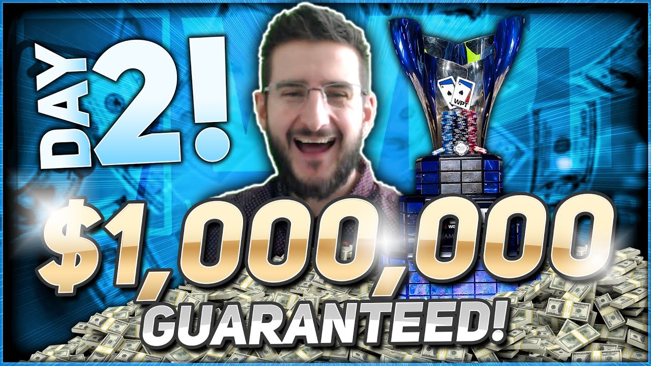 $1,000 DAY TWO of a MILLION DOLLAR PRIZE POOL | WPT INSANITY