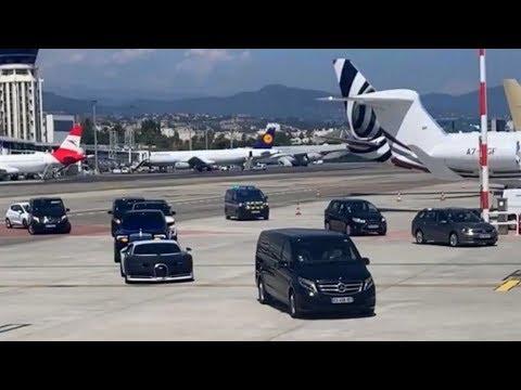 CE PRINCE DE DUBAÏ reçoit sa Bugatti au pied de l'avion !