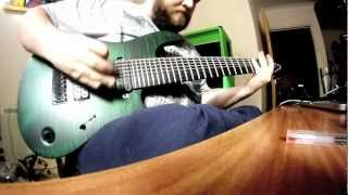 Mayones Regius 8 String - A quick riff to showcase the low end of the guitar.