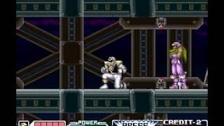 "Mighty Morphin Power Rangers: The Movie The Game (SNES) Mini Boss ""Ninjas""  [No Damage]"