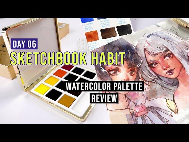 Most Aesthetically Pleasing Watercolor Set   Sketchbook Habit Day06