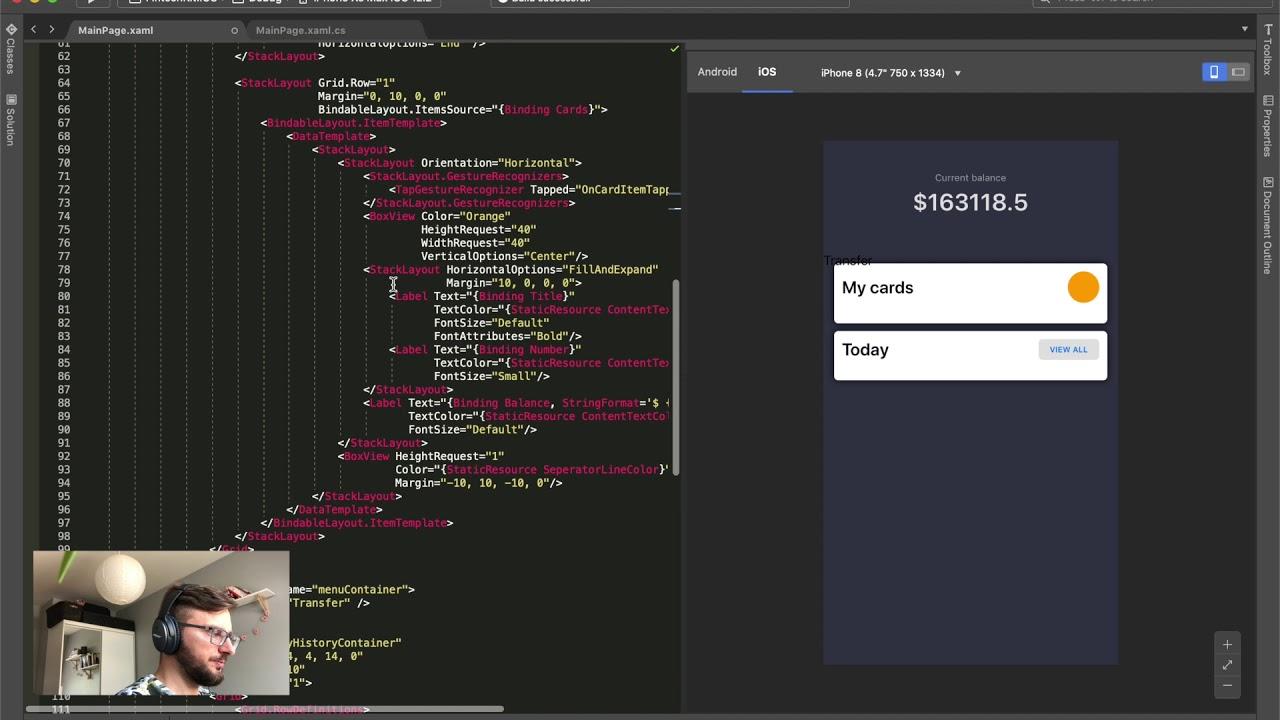 Xamarin Forms UI Challenge - Fintech Kit (part 3)