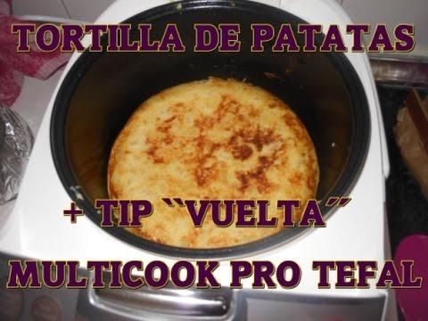 Receta multicook pro tefal tortilla de patatas youtube - Tefal multicook pro recetas ...