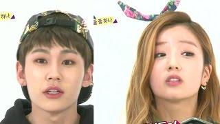 Bomi and Ilhoon Weekly idol ENG SUB ep 147 cut of EXO chanyeol, BEAST, INFINITE BTOB 일훈 보미 비투비 찬열