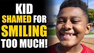 Kid Shamed for Smiling TOO MUCH! Surprise Ending... | SAMEER BHAVNANI