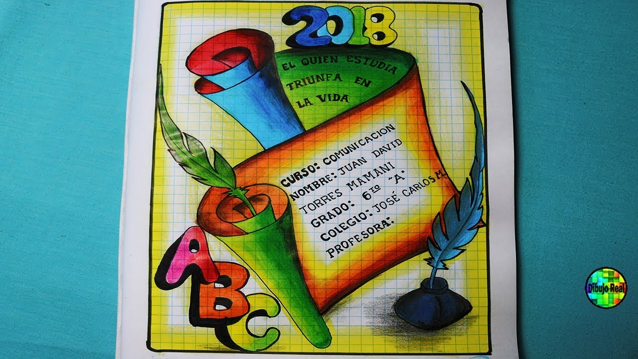 Como dibujar car tulas para el cole 2018 dibujos para for Caratulas de artes plasticas para secundaria