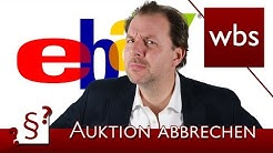 Darf ich eine Ebay-Auktion vorzeitig abbrechen? | Rechtsanwalt Christian Solmecke