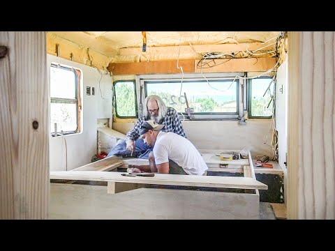 Cabinet Plans - LVP Flooring - Bed Platform Built