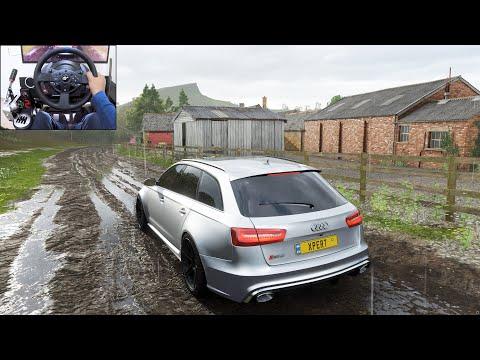 Audi RS6 Avant  Forza Horizon 4   Thrustmaster T300RS