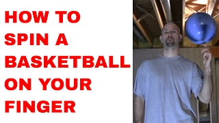 How to Spin a Basketball on Your Finger for Beginners - Trick Tutorial
