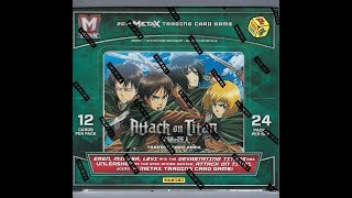 Box Busters 2018 Panini Metax Attack On Titan Youtube