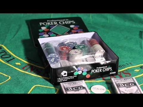 Обзор покерного набора Holdem Lite на 100 фишек