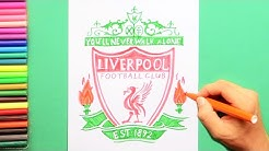 How to draw Liverpool F. C. Logo - Premier League