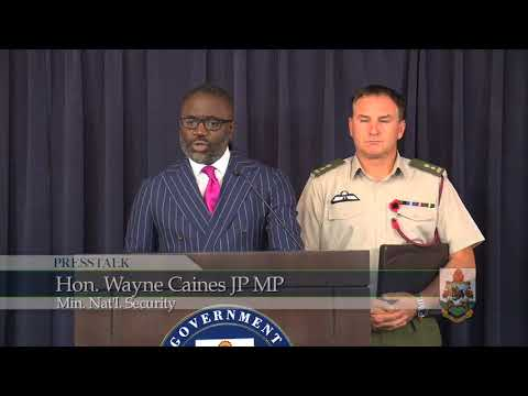 Min. Caines Announces the Future Abolishment of Conscription in Bermuda