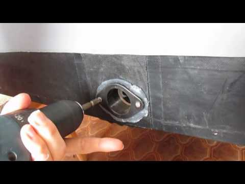 Установка сливного клапана на герметик