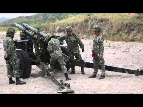 12th Marine Regiment, Philippine artillery Marines providing long range fire support