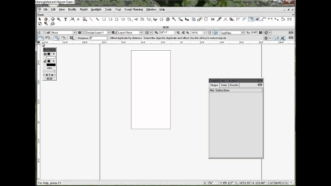 Vectorworks Basic Tutorial Your 20st Drawing