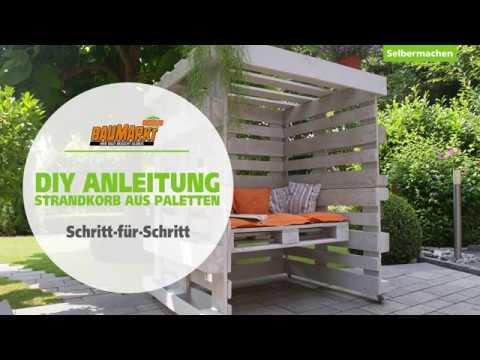 Strandkorb Aus Paletten Selber Bauen Globus Baumarkt Youtube