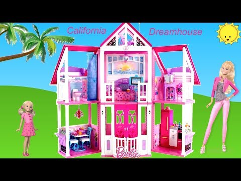 Thumbnail: Barbie California Dreamhouse Unboxing Assembly House Tour Dolls Toy Play - Life in the Dreamhouse