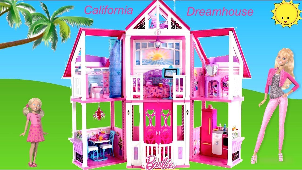 Barbie California Dreamhouse Unboxing Assembly House Tour