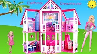 Barbie California Dreamhouse Unboxing  Assembly House Tour Dolls Toy Play - Life in the Dreamhouse