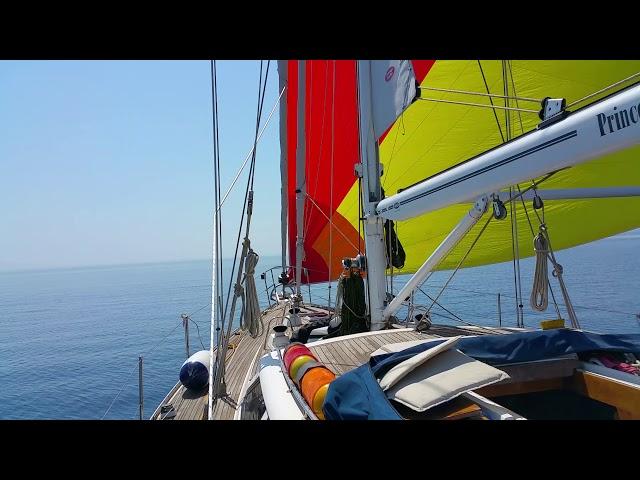The Boys go Sailing - New Sails