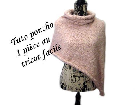 les tutos de fadinou tuto poncho au tricot 1 piece sans. Black Bedroom Furniture Sets. Home Design Ideas
