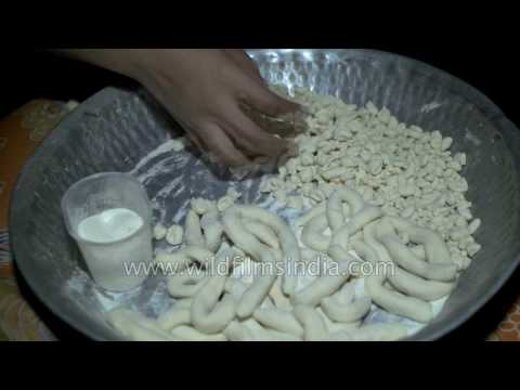 Making noodles for Guthuk dish on Tibetan new year