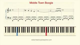 "How To Play Piano: ""Middle Town Boogie"" Piano Tutorial by Ramin Yousefi"