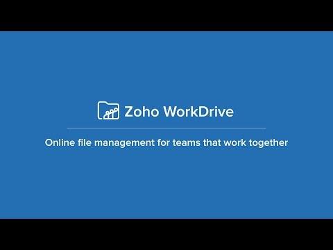 Manage Files and Folders - Zoho WorkDrive