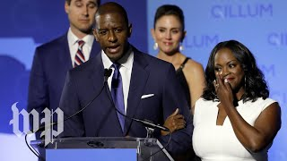 Gillum speaks to media after recount announcement