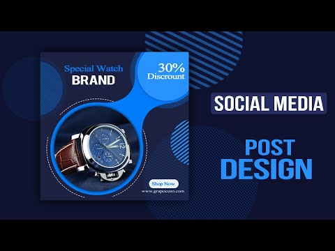 Social Media Marketing Post Banner Design - Photoshop Cc Tutorial