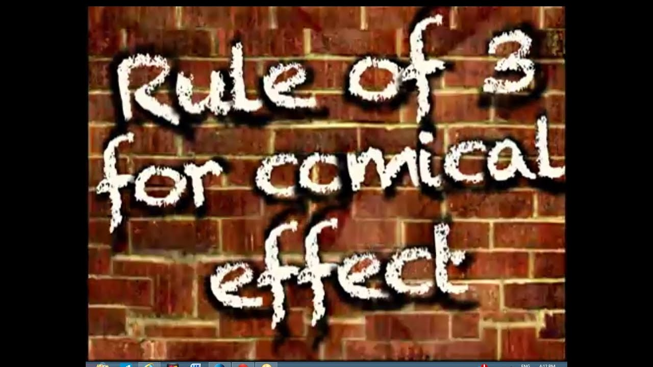 How To Use The Rule of Three To Make People Laugh