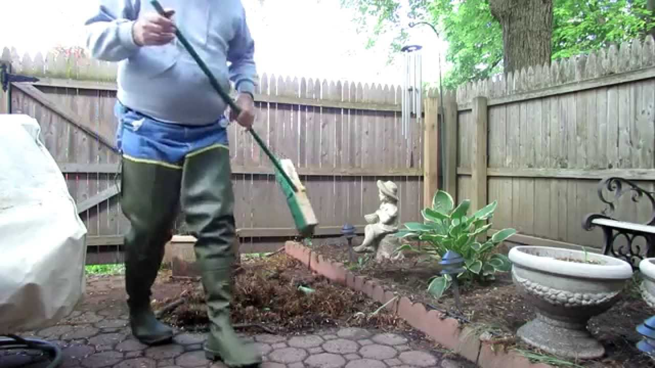 Doing Yard Work Wearing Hip Boots Youtube