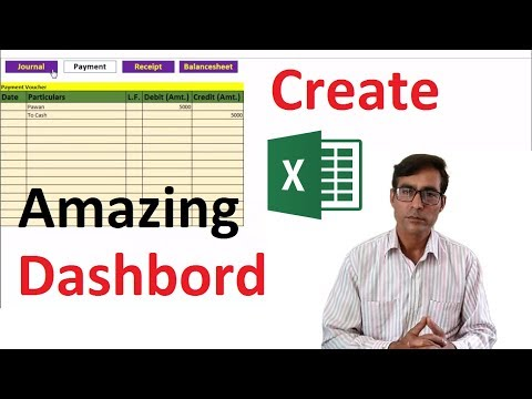 Amazing Dashboard like workbook as a software in excel in hindi thumbnail