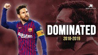 Lionel Messi Dominating Everyone 2019 Dribbling Skills  Goals