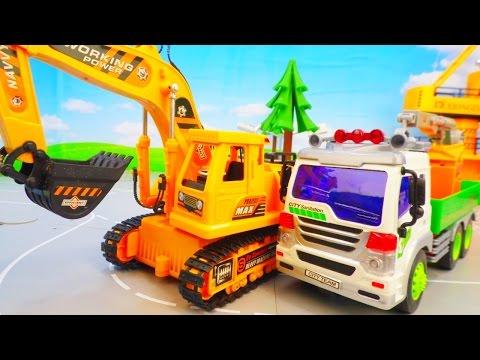 Мультфильм про машинки строительные