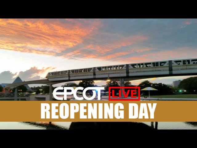LIVE: Epcot Reopening Day - Food and Wine Festival - Disney Skyliner - Walt Disney World Live Stream