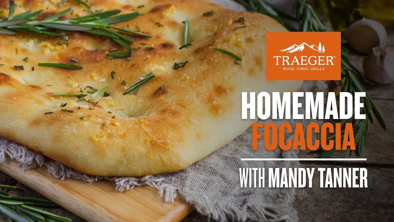 Focaccia w/ Mandy Tanner Full Recipe   Traeger Grills thumbnail