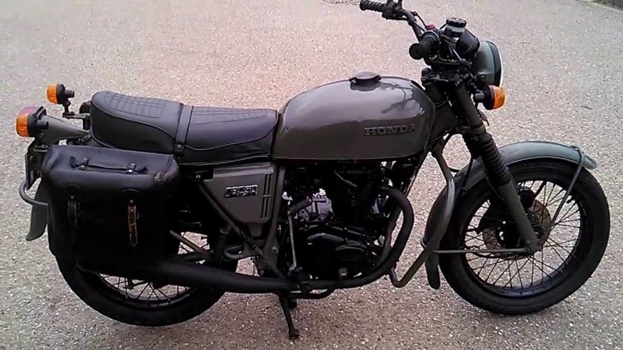 honda cb 250 g armee 1976 son youtube. Black Bedroom Furniture Sets. Home Design Ideas