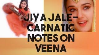 #20 Nenjinile / jİya jale | #ranjanisnotes | Carnatic swaras on Veena | Ranjani mahesh | Tutorials